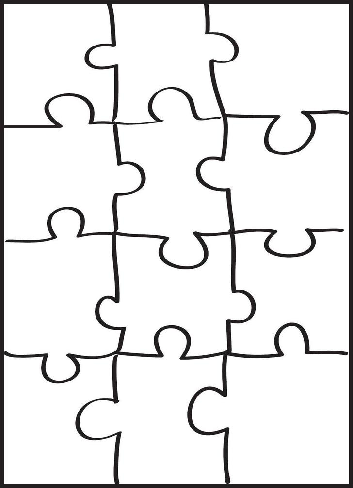 Puzzle Pattern Template PDF Free Download