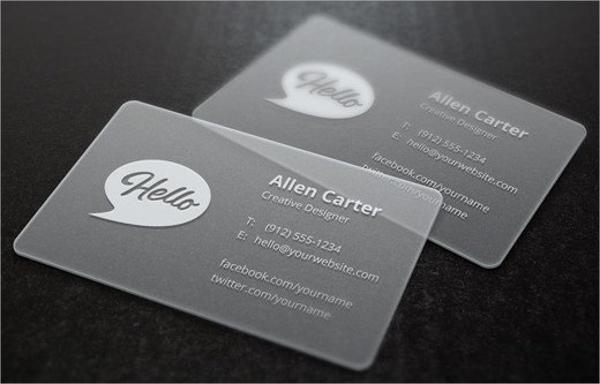 PVC Transparent Business Card