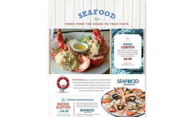 Readymade Design Templates- Seafood Restaurant