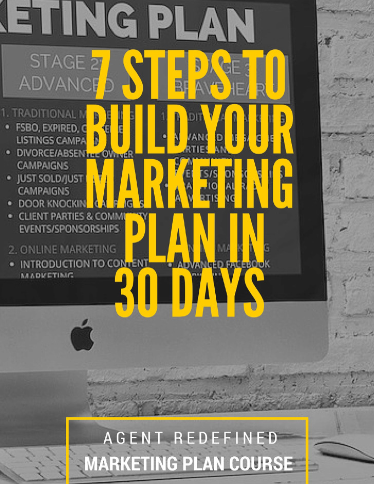 Real Estate Agent Marketing Plan Workbook
