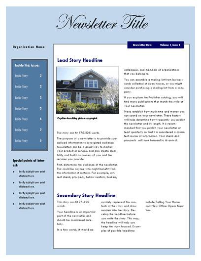 Real Estate Newsletter Template 1