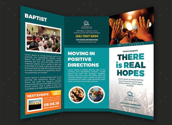 Real Hopes Church PSD Trifold Brochure - $8