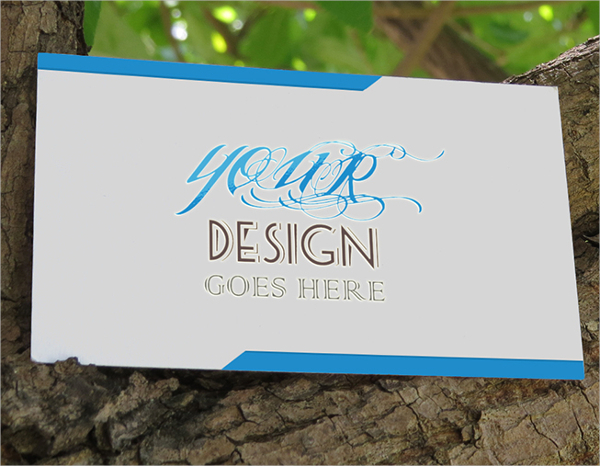 Realistic Embossed Business Card