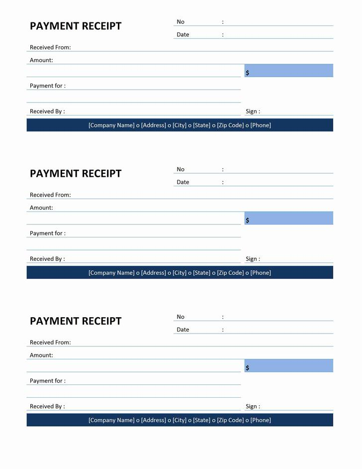 Receipt Format Word Free Download