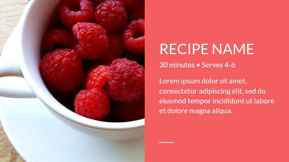 Recipe Book Google Slide Template Free Download
