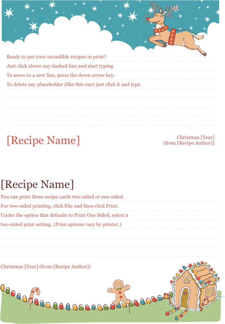 Recipe Template 1