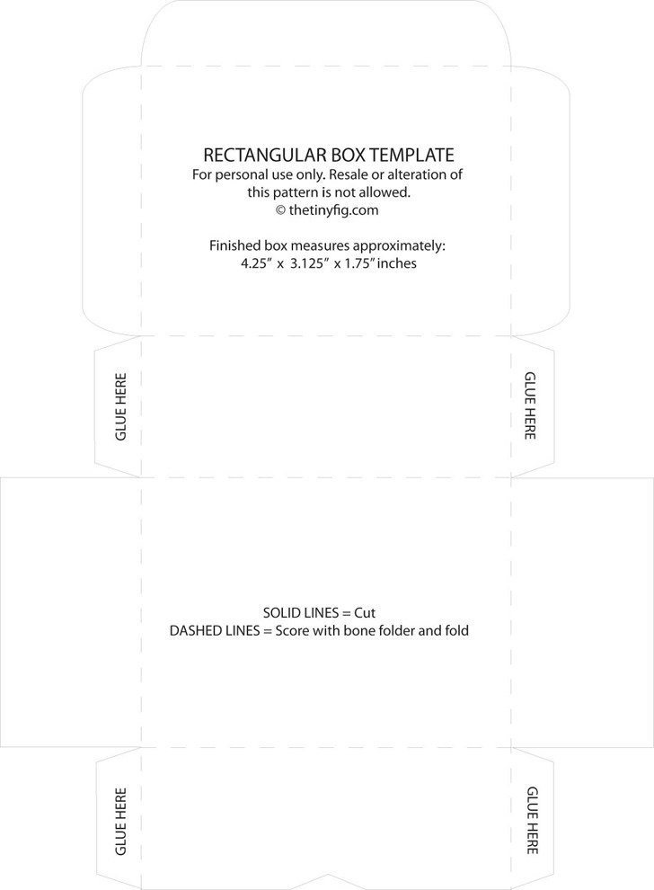 Rectangular Box Template