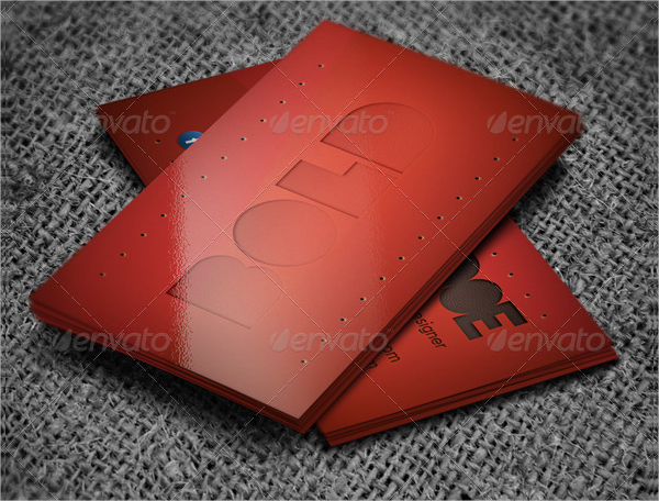 Red Metal Business Card