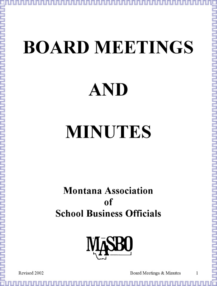 Regular Board Minutes
