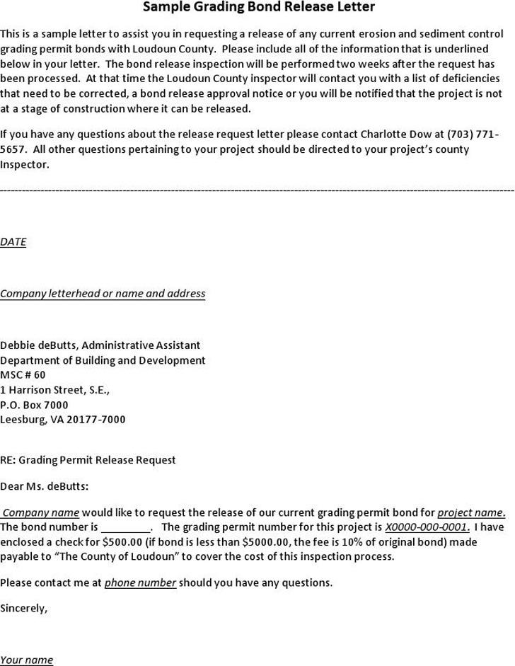 Release Letter Sample 3