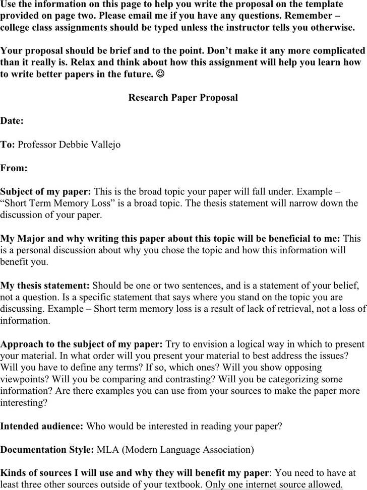 research paper proposal free download research paper proposal template