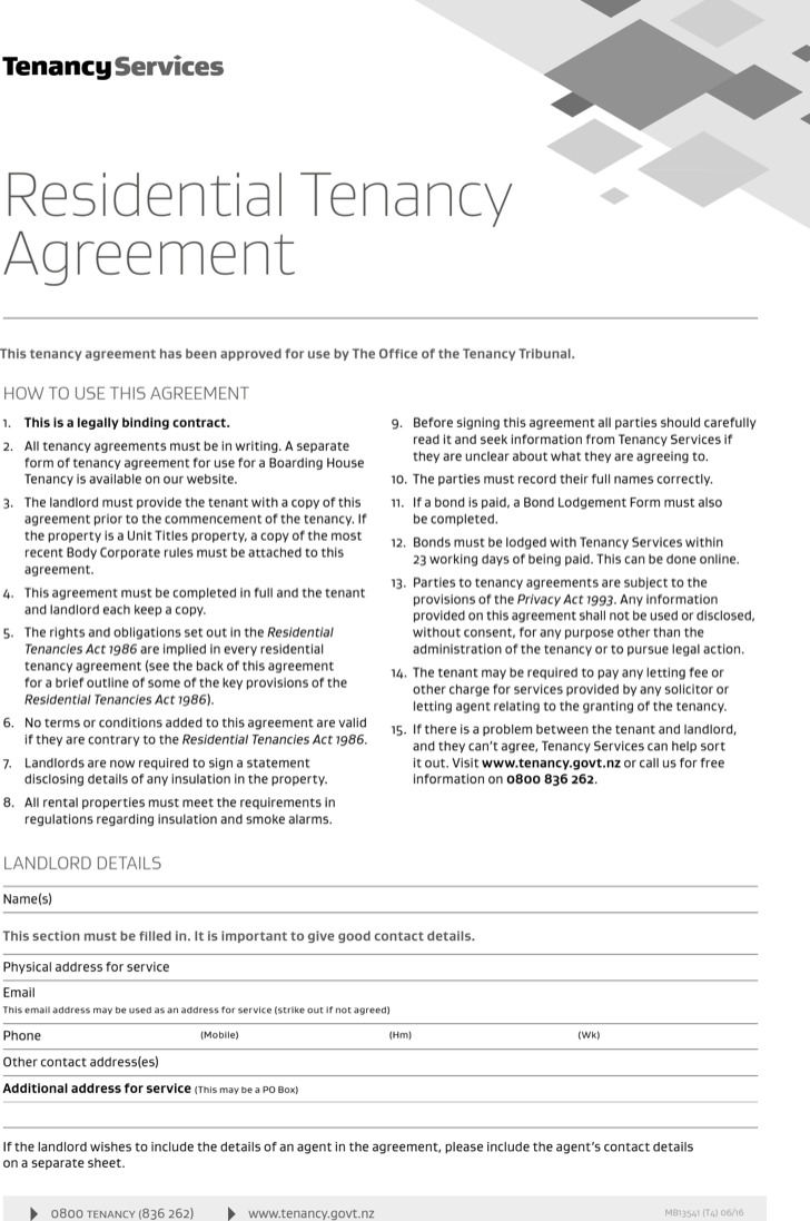Residential Rental Agreement Templates
