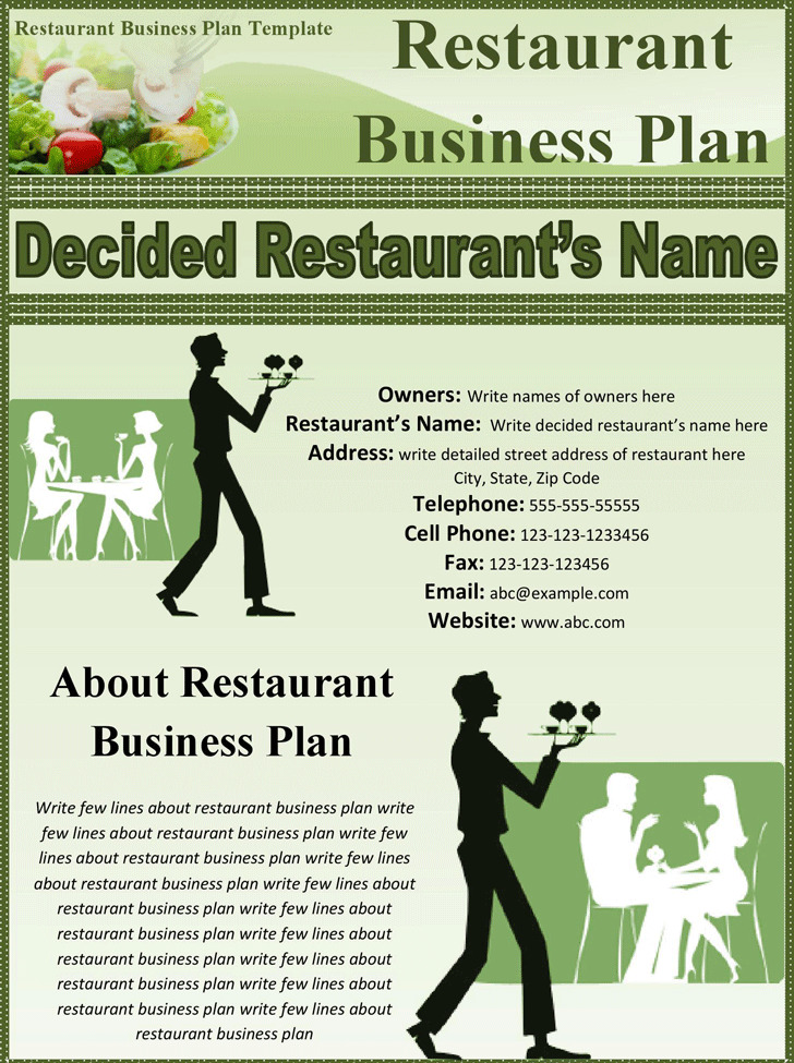 3 Restaurant Business Plan Template Free Download