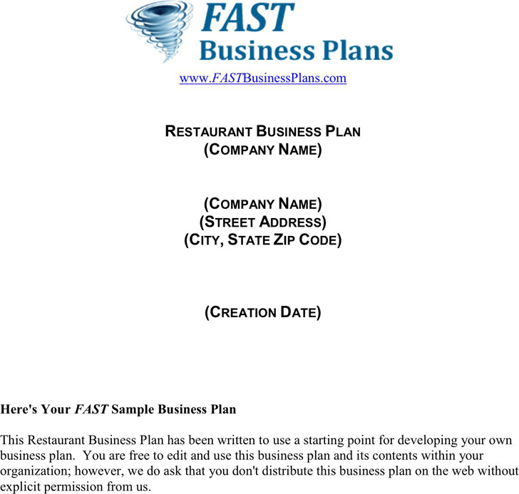 3 restaurant business plan template free download restaurant business plan template friedricerecipe Image collections