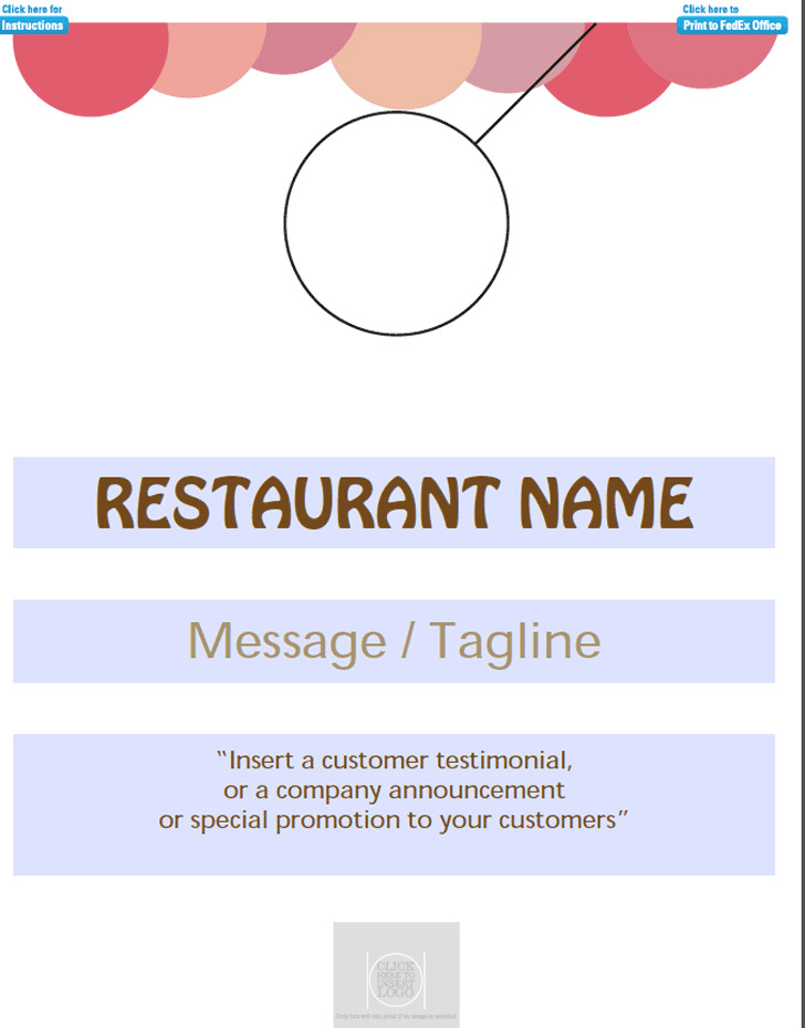 Restaurants Door Hanger Template 1