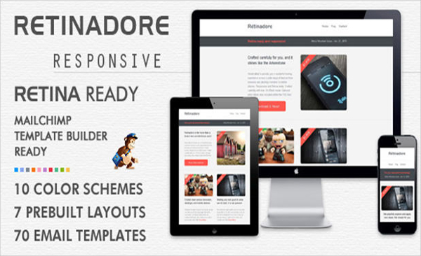 Retinadore Email Newsletter Template