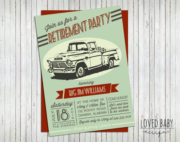 Retirement Party Invitation