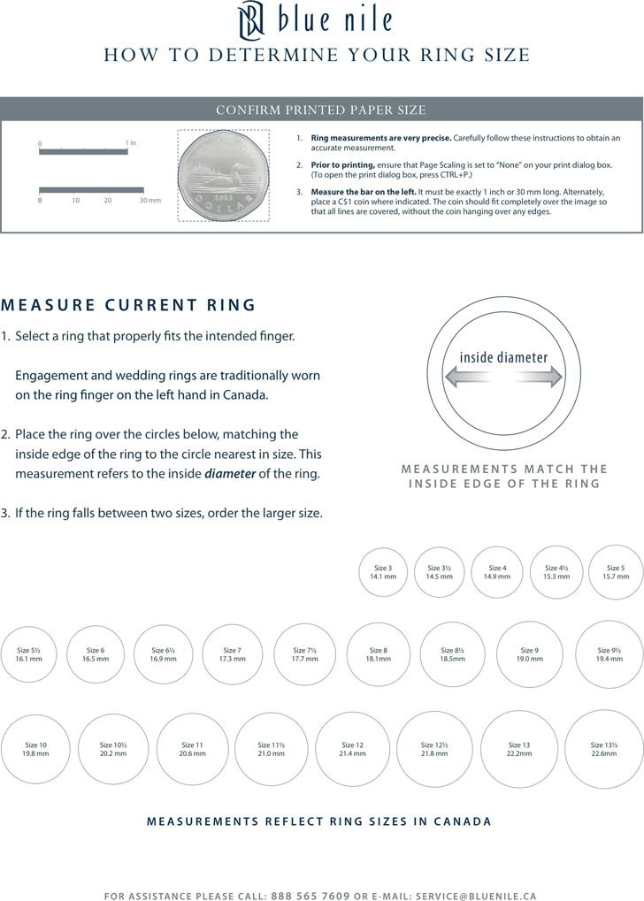 Ring Size Chart 1