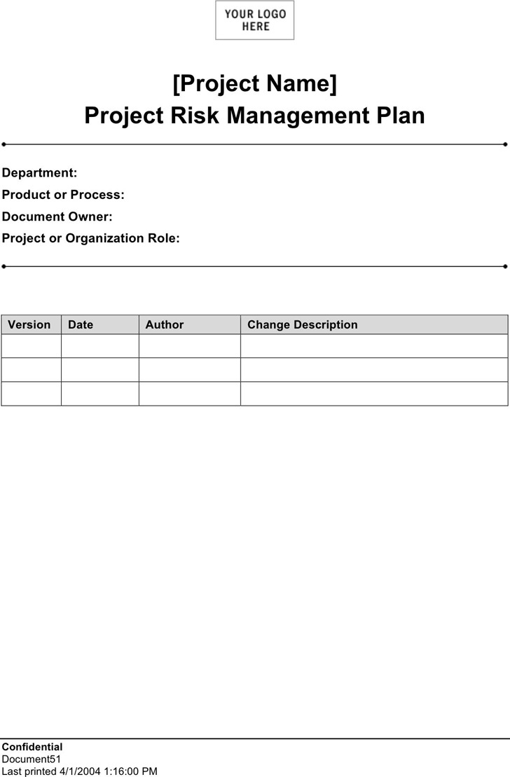 Risk Management Plan Template 2