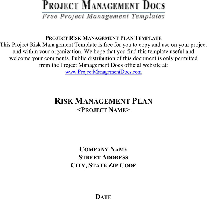 Risk Management Plan Template 3