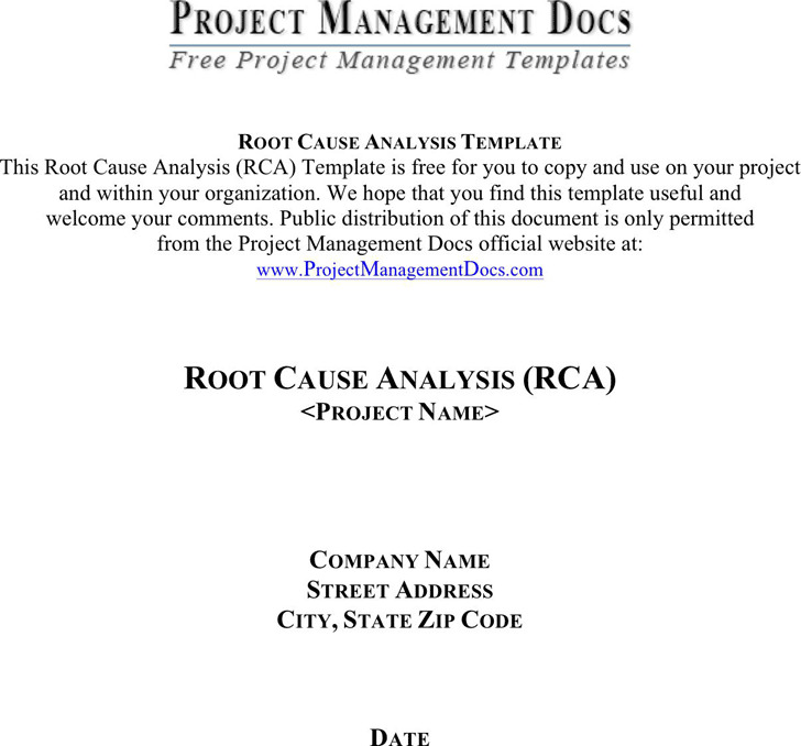 Root Cause Analysis Template 1