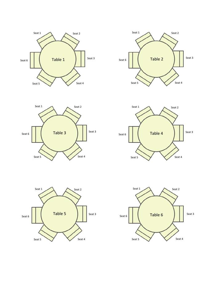 Round Tables Seating Chart Example Template Download
