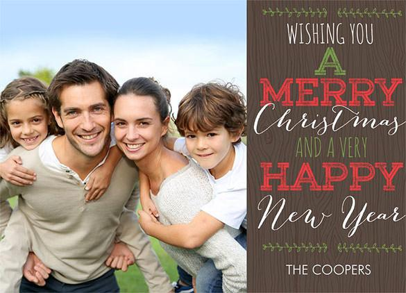 Rustic Christmas Needles & New Year Greeting Download