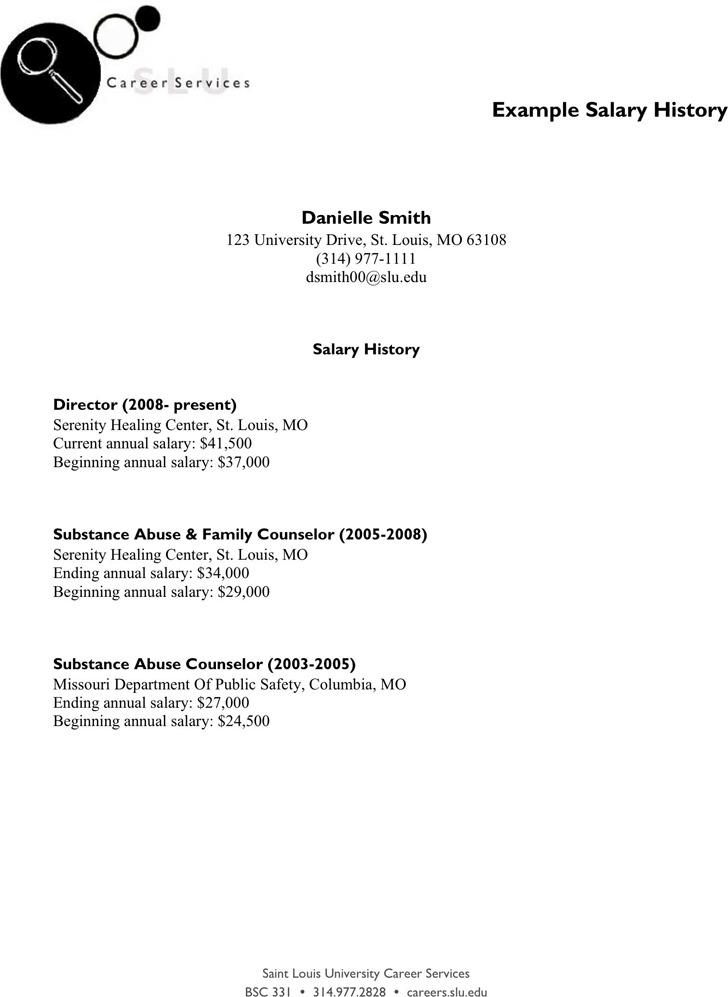 Example Salary History