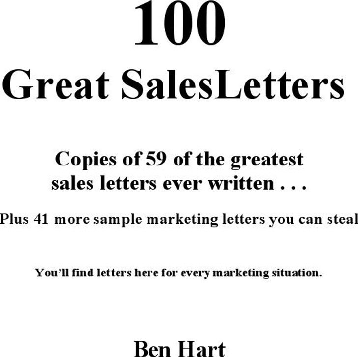 Sales Letter Sample 1