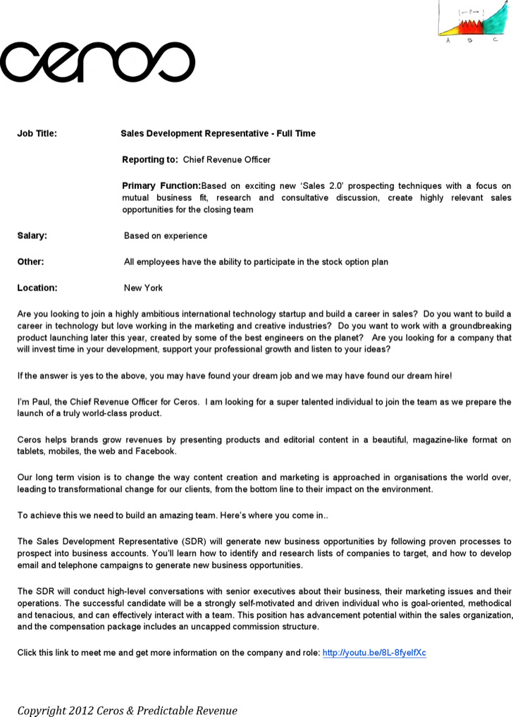 Sales Manager Job Description Template
