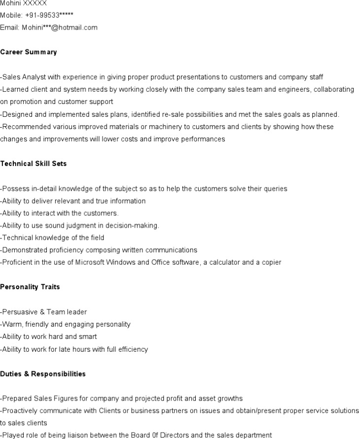 Download Marketing Analyst Resume Template For Free Tidytemplates