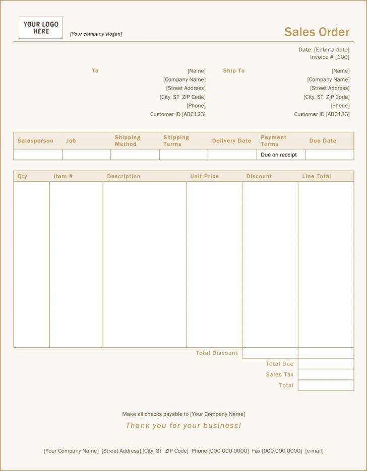 Sales Order Template 2