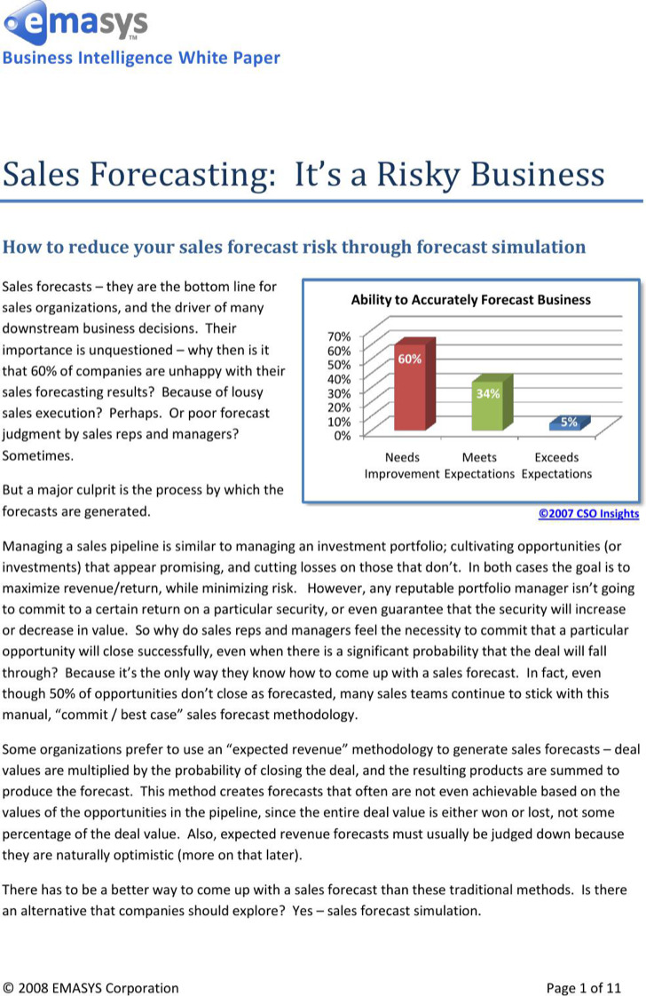 Sales Pipeline Forecast Template