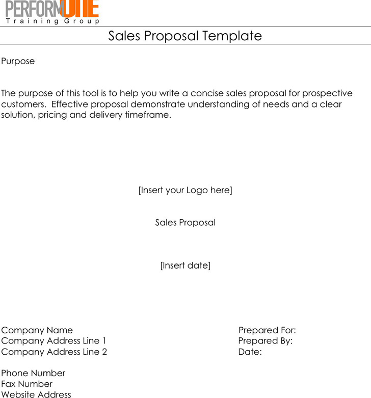 Sales Proposal Template 1