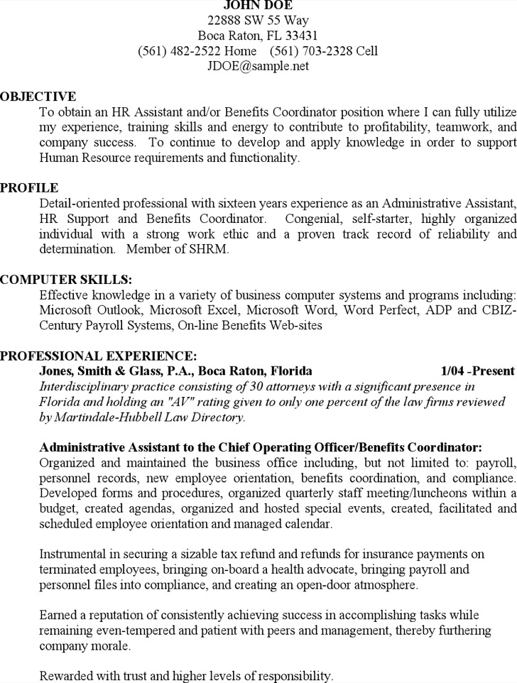 Sample Admin Resume1