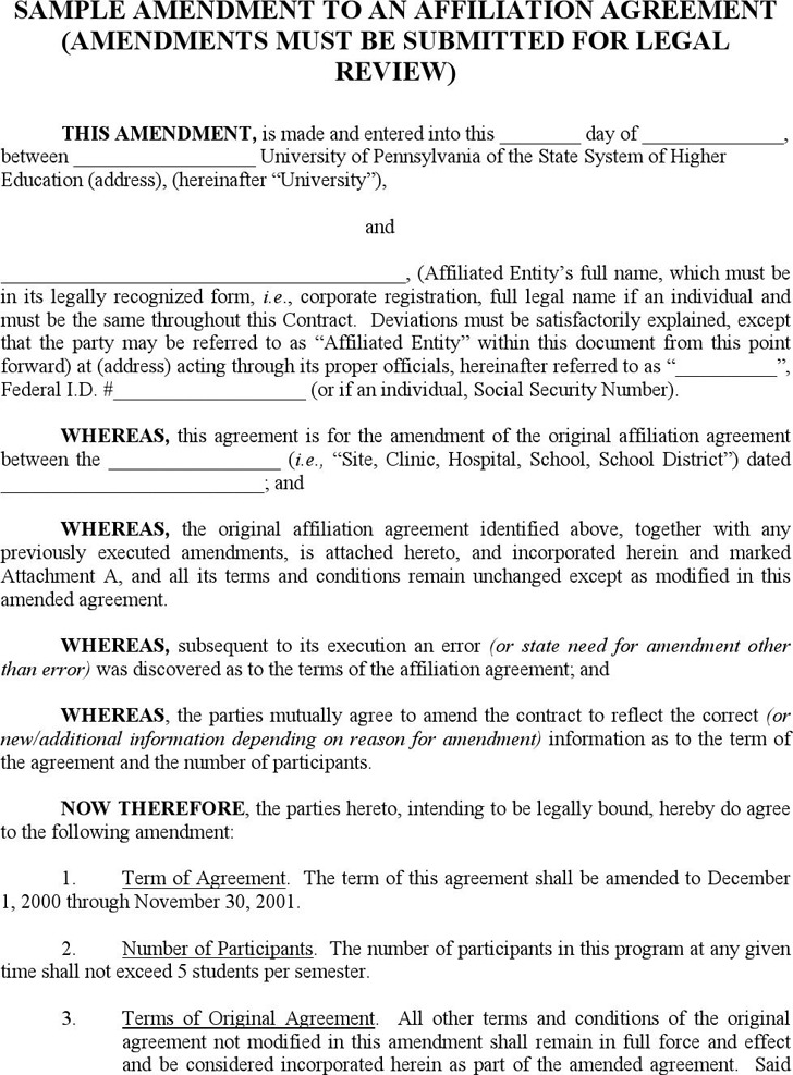 Download Contract Amendment Template For Free Tidytemplates