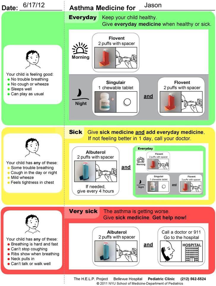 Sample Asthma Action Plan PDF Document