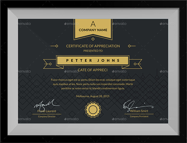 Sample Award Certificates Template