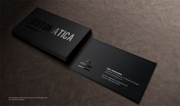 Sample Black Business Card Template