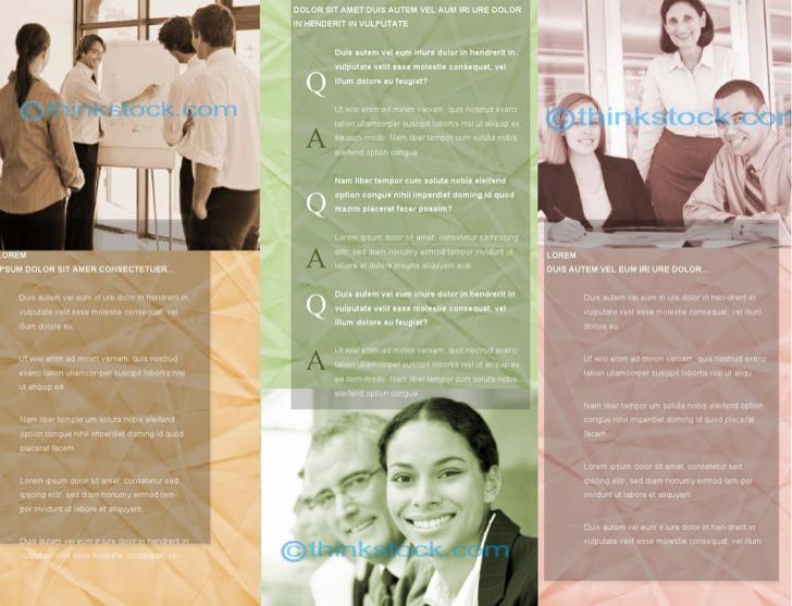 Sample Business Brochure Outside Template
