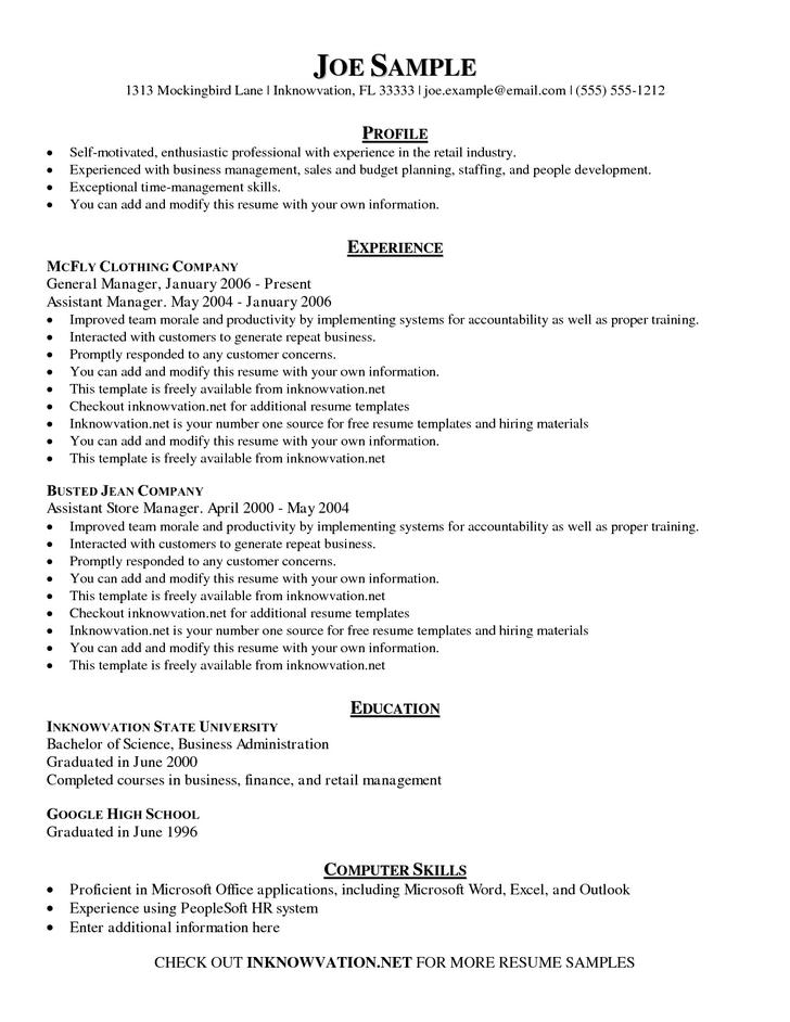 Sample Business Teacher Resume Template