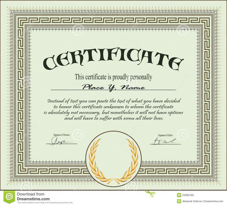 Sample Certificate Template Download