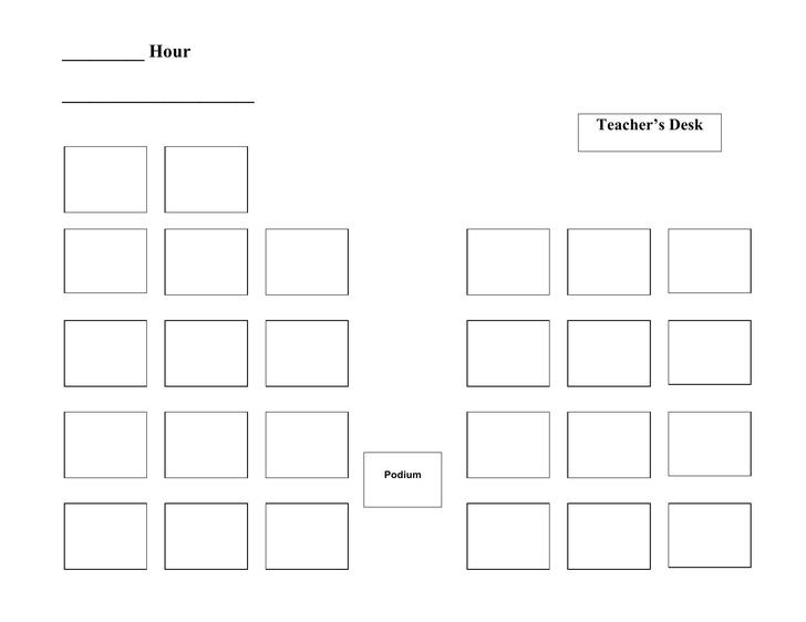 Sample Class Room Seating Chart Free Word Download