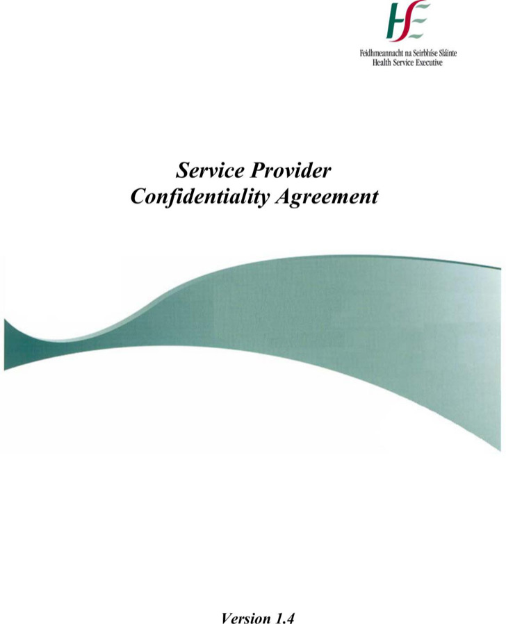 Sample Client Service Provider Confidentiality Agreement