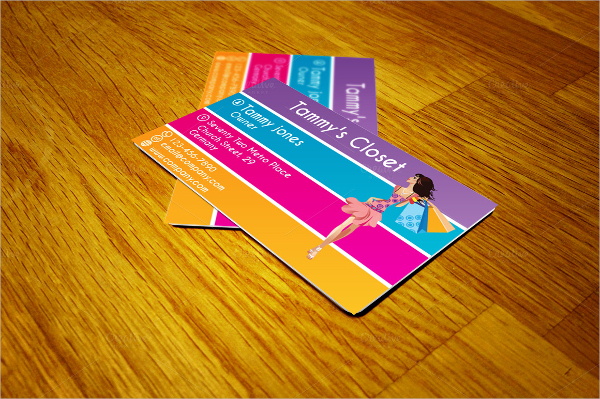 Sample Colorful Business Card Template