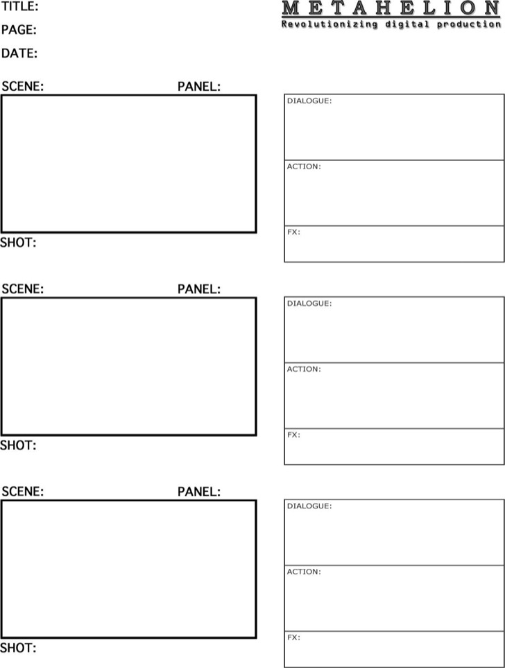 8 Commercial Storyboard Template Free Download