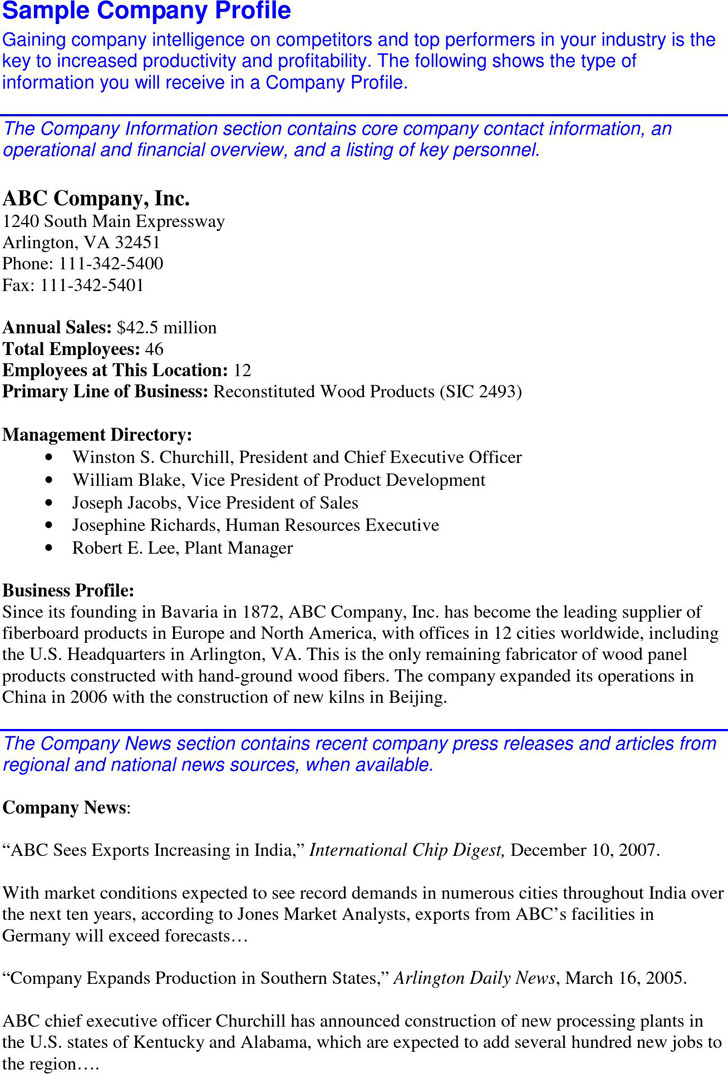 3 company profile sample free download sample company profile cheaphphosting Choice Image