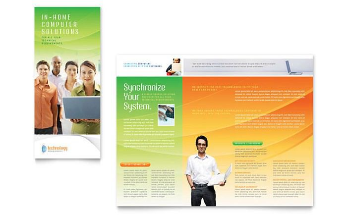 Sample Computer & IT Services Brochure Template