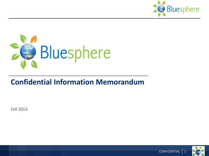 Sample Confidential Information Memorandum Template 2