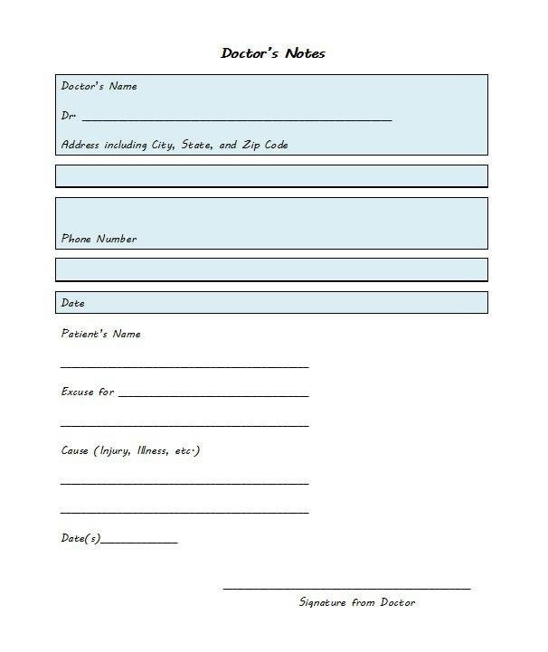 Sample Doctors Note For Legal Work Template Pdf Download